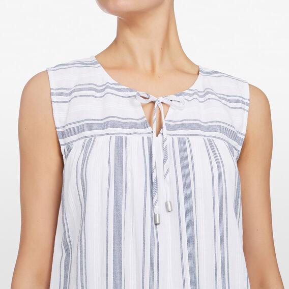 STRIPE SUMMER SHIFT DRESS  SUMMER WHITE/NOCTURN  hi-res
