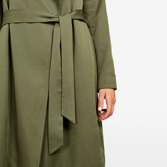 CUPRO TRENCH COAT  KHAKI  hi-res