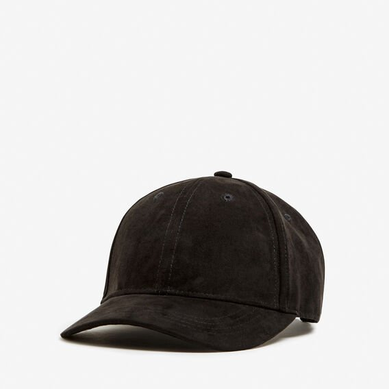 FAUX SUEDE CAP  BLACK  hi-res