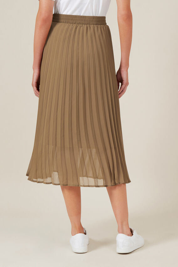 PLEATED SKIRT  CAMEL  hi-res