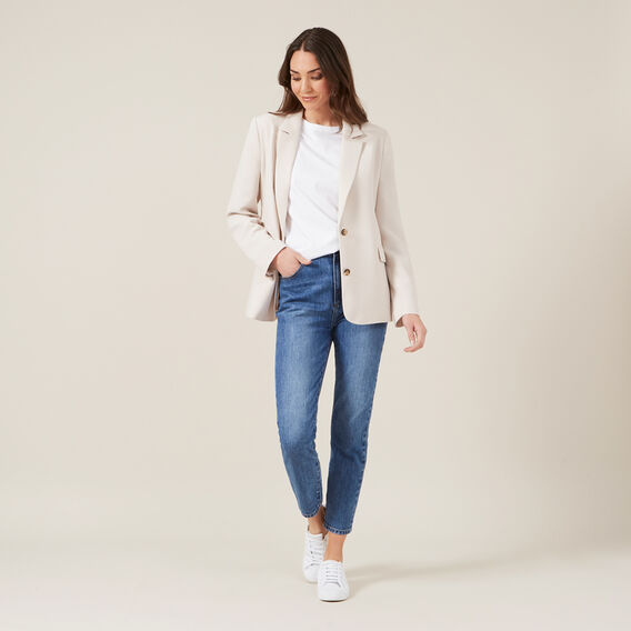 RELAXED BLAZER  OATMEAL  hi-res