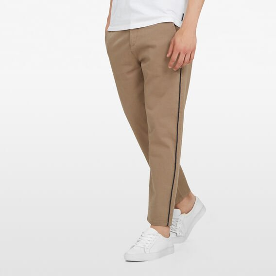 SIDE STRIPE CHINO  TAUPE  hi-res