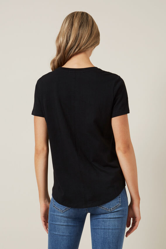RELAXED FIT T-SHIRT  BLACK  hi-res