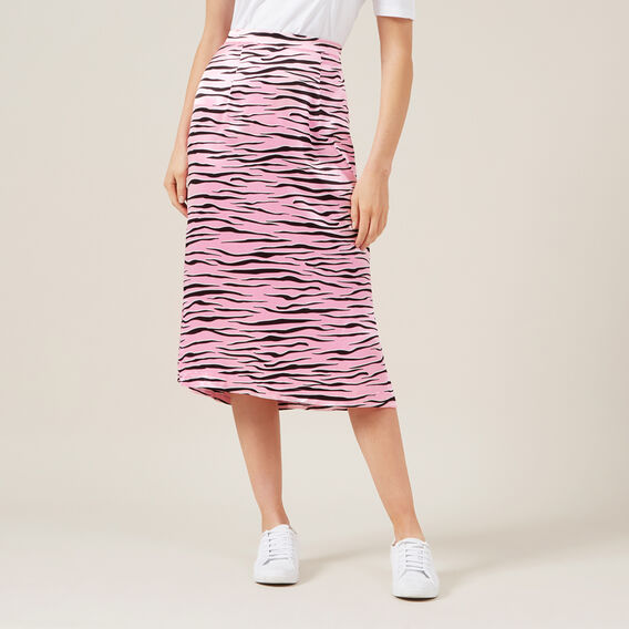 TIGER SLIP SKIRT  PALE PINK  hi-res