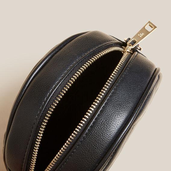 QUILTED CIRCLE BAG  BLACK  hi-res