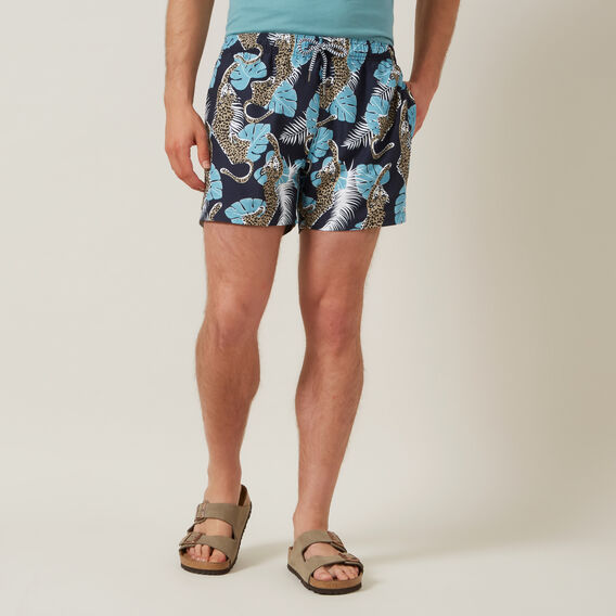 JUNGLE CHEETAH SWIM SHORT  MARINE BLUE  hi-res