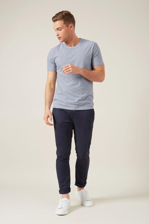 MINI STRIPE T-SHIRT  POWDER BLUE/WHITE  hi-res