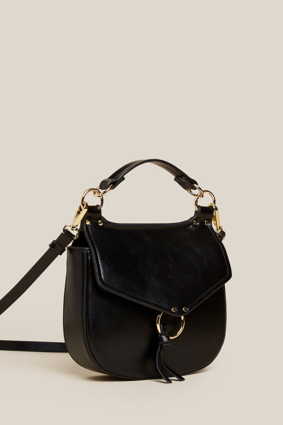 MINI EQUESTRIAN CROSSBODY BAG  BLACK  hi-res