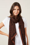 ANIMAL SCARF  BROWN/BLACK  hi-res