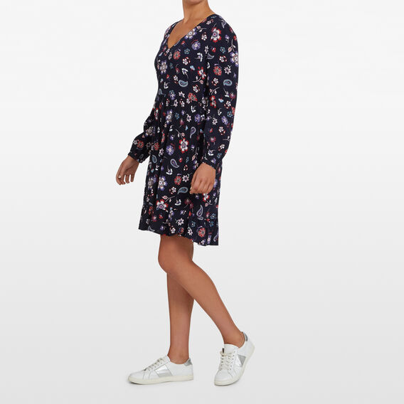 WINTER BLOOMS MINI DRESS  NAVY/MULTI  hi-res