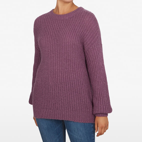 OVERSIZED SLOUCHY KNIT  DEEP LAVENDER  hi-res