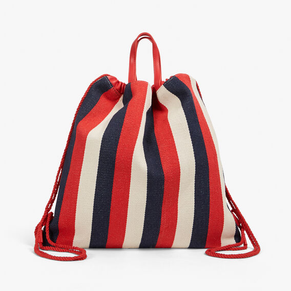 SPORTY DRAWSTRING BACKPACK  MULTI  hi-res