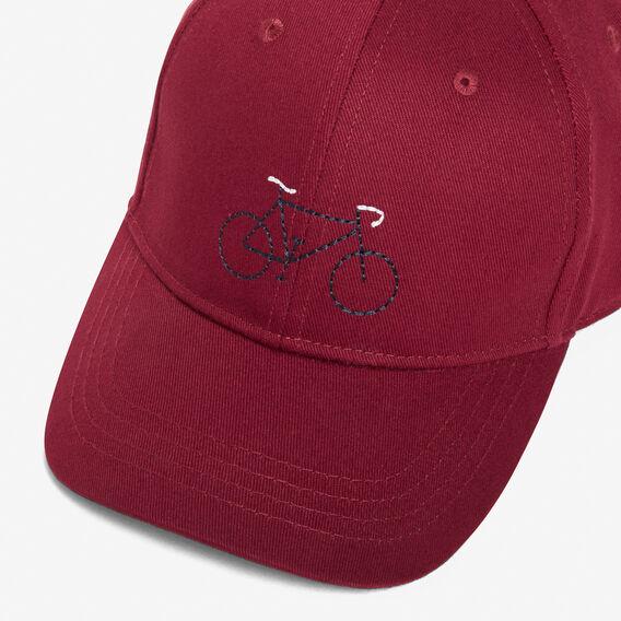 BICYCLE CAP  BURGUNDY  hi-res