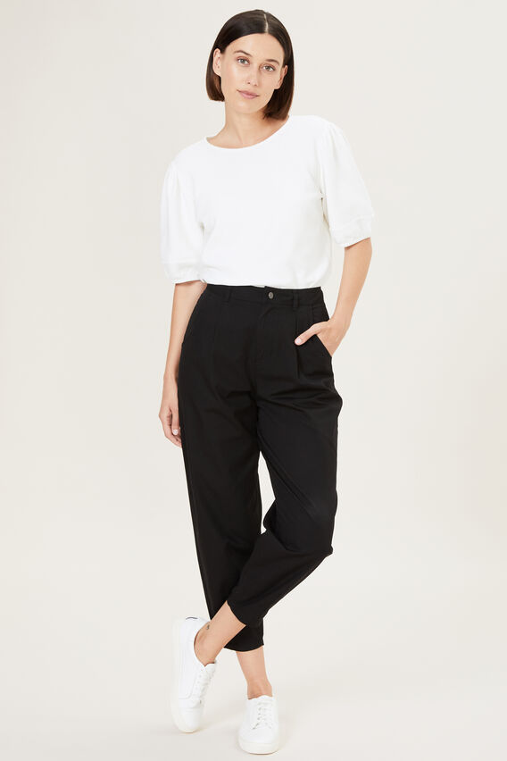RELAXED HIGH WAIST PANT  BLACK  hi-res