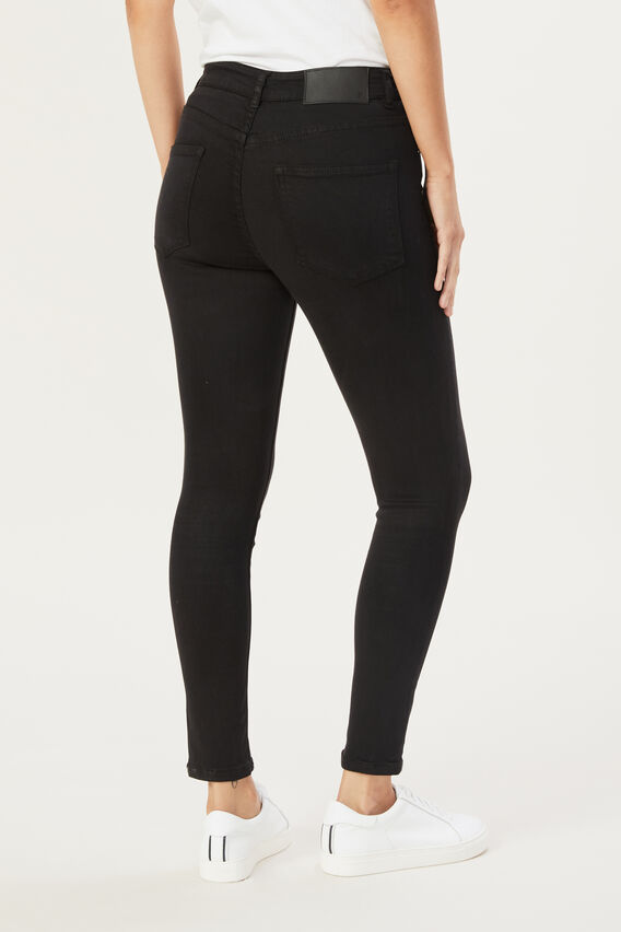 MIA HIGH RISE SKINNY JEAN  BLACK  hi-res