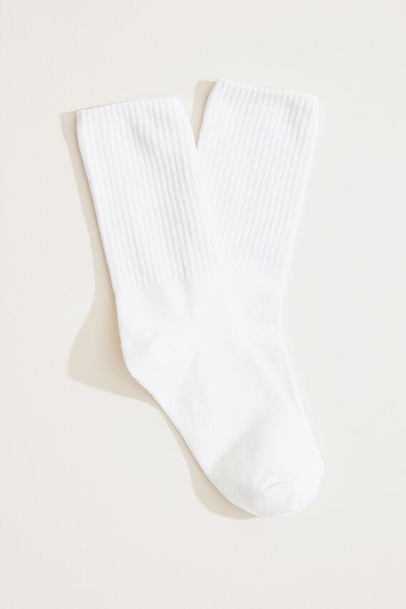 BOYFRIEND SOCK  WHITE  hi-res