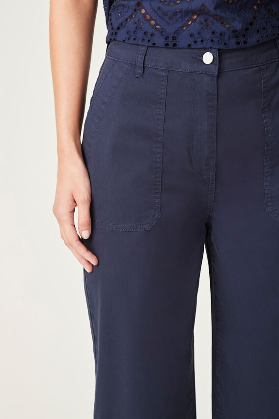COTTON UTILITY PANT  FRENCH NAVY  hi-res