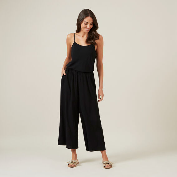 ESSENTIAL SUMMER JUMPSUIT  BLACK  hi-res