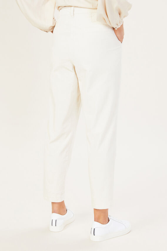 CORD PLEAT FRONT PANT  ECRU  hi-res
