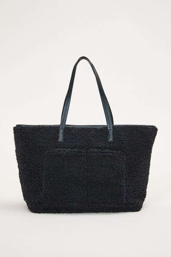 TEDDY TOTE BAG  BLACK  hi-res