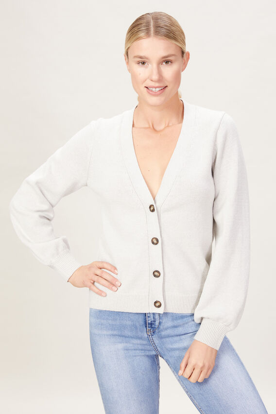 KNITTED CARDIGAN  DOVE GREY  hi-res
