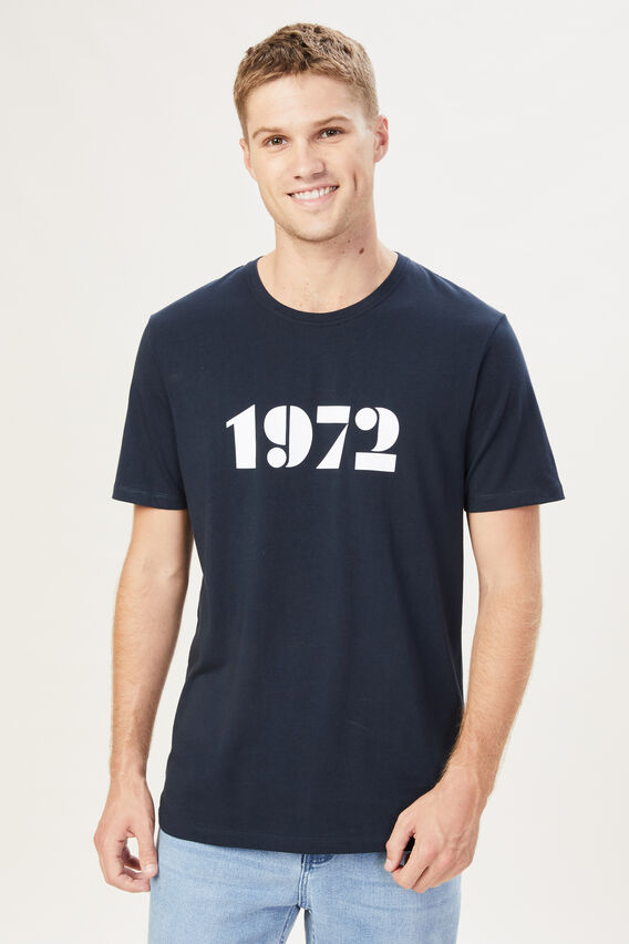 1972 T-SHIRT  MARINE BLUE  hi-res