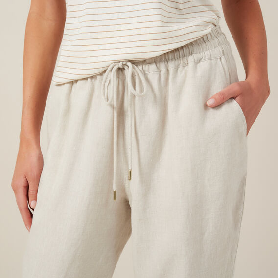 RELAXED LINEN PANT  OATMEAL  hi-res