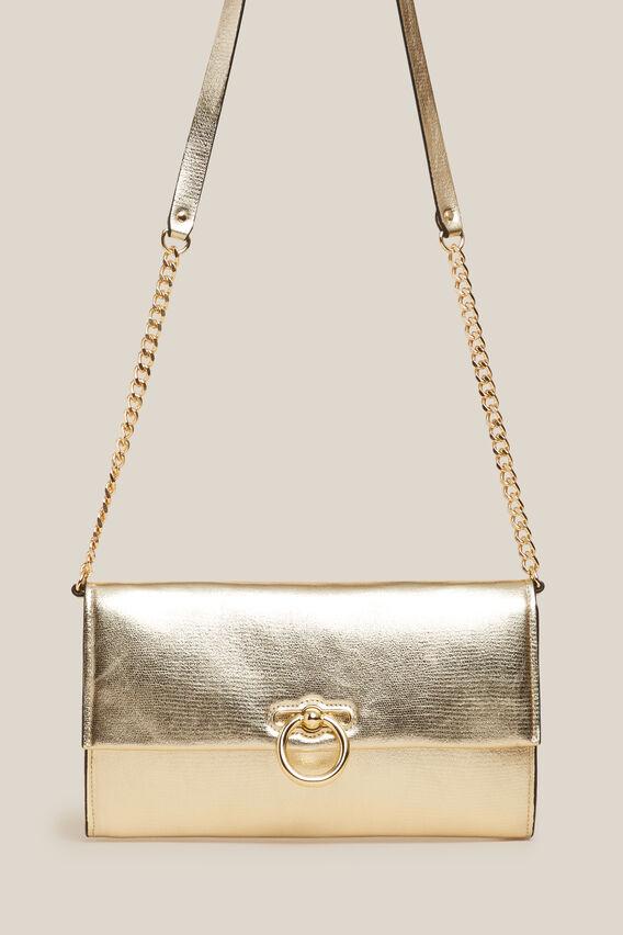 CONVERTIBLE CLUTCH BAG  GOLD  hi-res