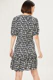 LILY FLORAL TEA DRESS  BLACK/MULTI  hi-res