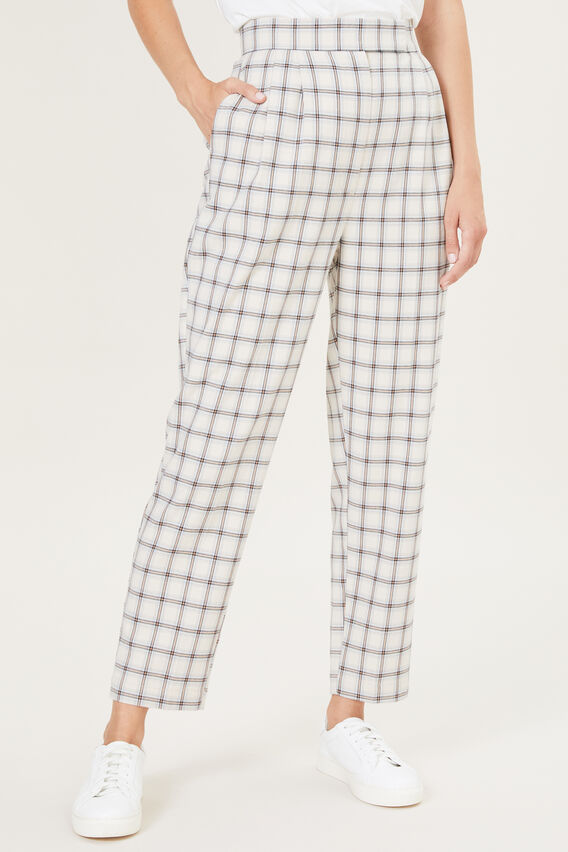 TAILORED CHECK PANT  AUTUMN CHECK  hi-res