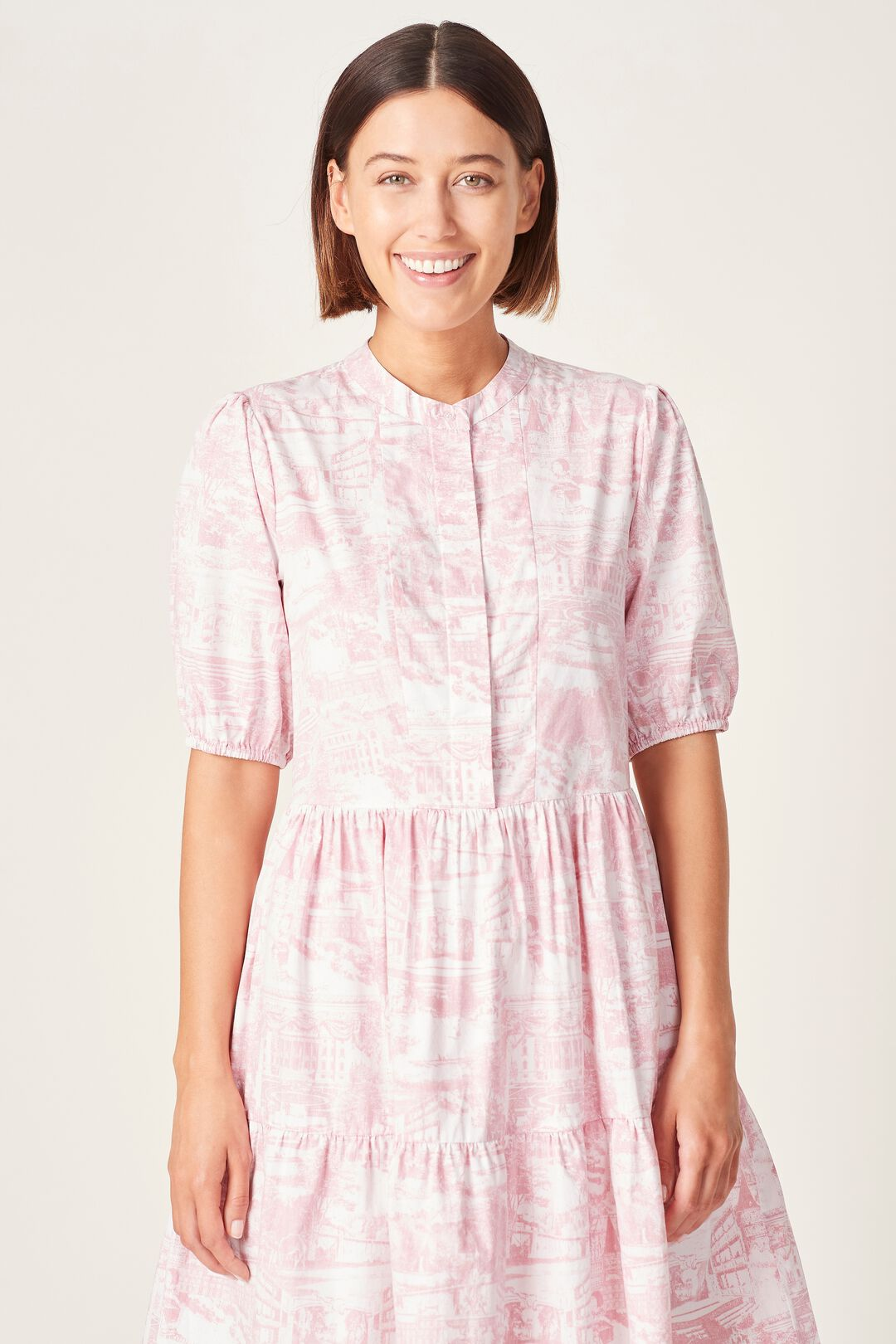 SCENIC TIERED DRESS  PINK SCENIC  hi-res