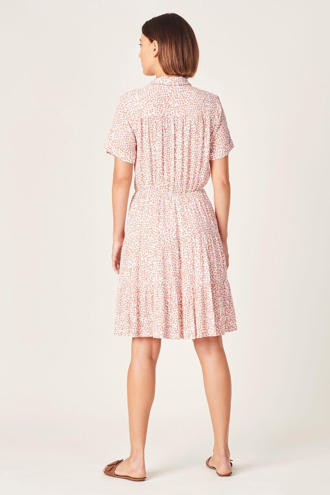 CRINKLE DITSY FLORAL DRESS  SUMMER WHITE/MULTI  hi-res