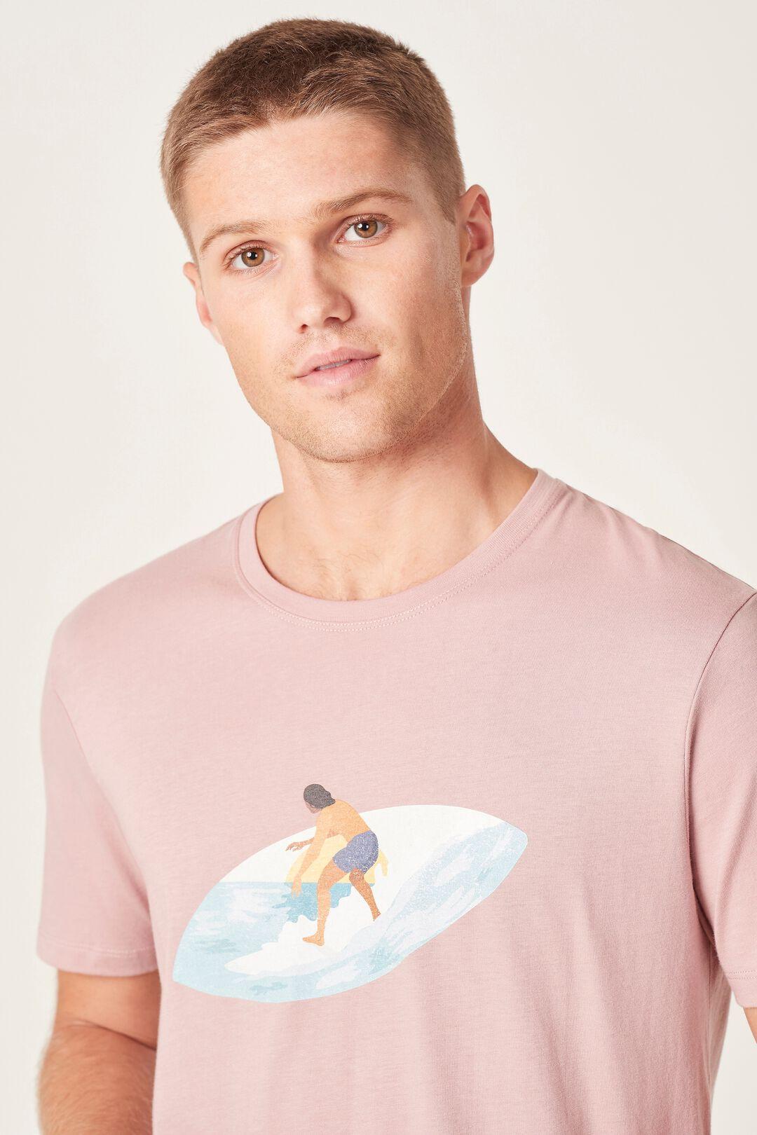 SURFER T-SHIRT  VINTAGE PINK  hi-res