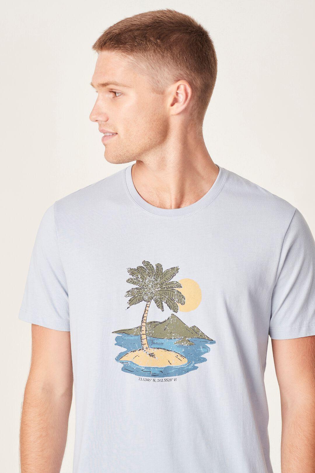 VINTAGE ISLAND T-SHIRT  LIGHT BLUE  hi-res