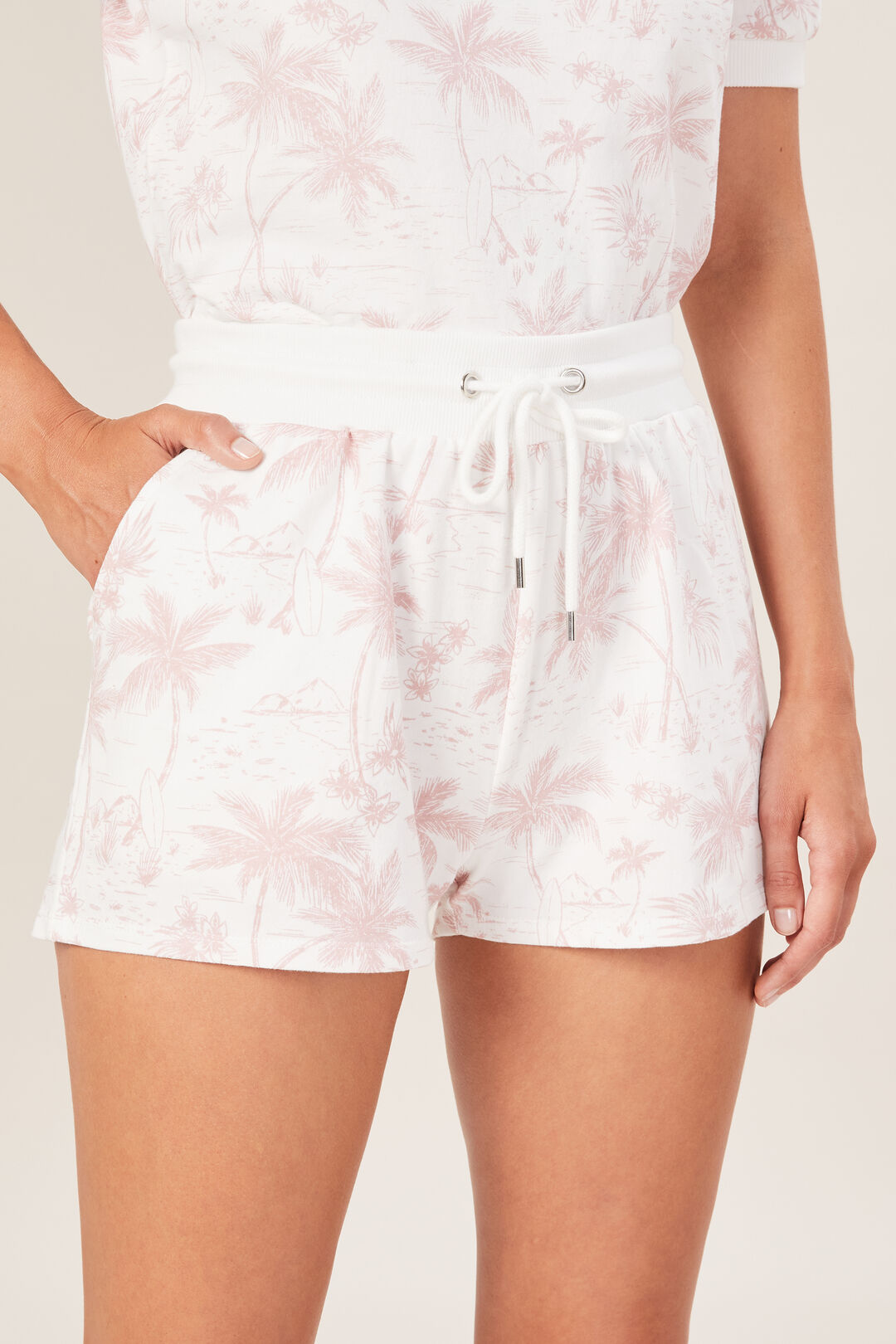 TROPICAL SWEAT SHORT  WASHED PINK/SUMMER W  hi-res