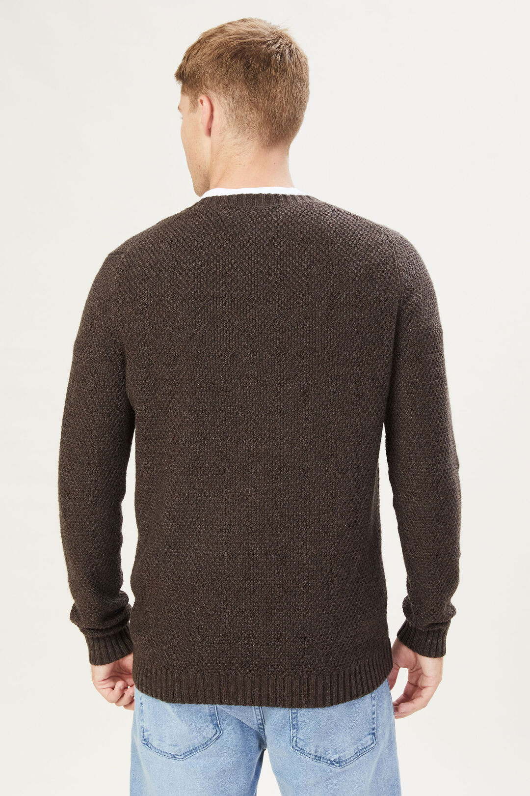 CHOCOLATE TEXTURED KNIT  CHOCOLATE  hi-res