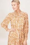 SHIRRED HIGH NECK DRESS  VINTAGE FLORAL  hi-res