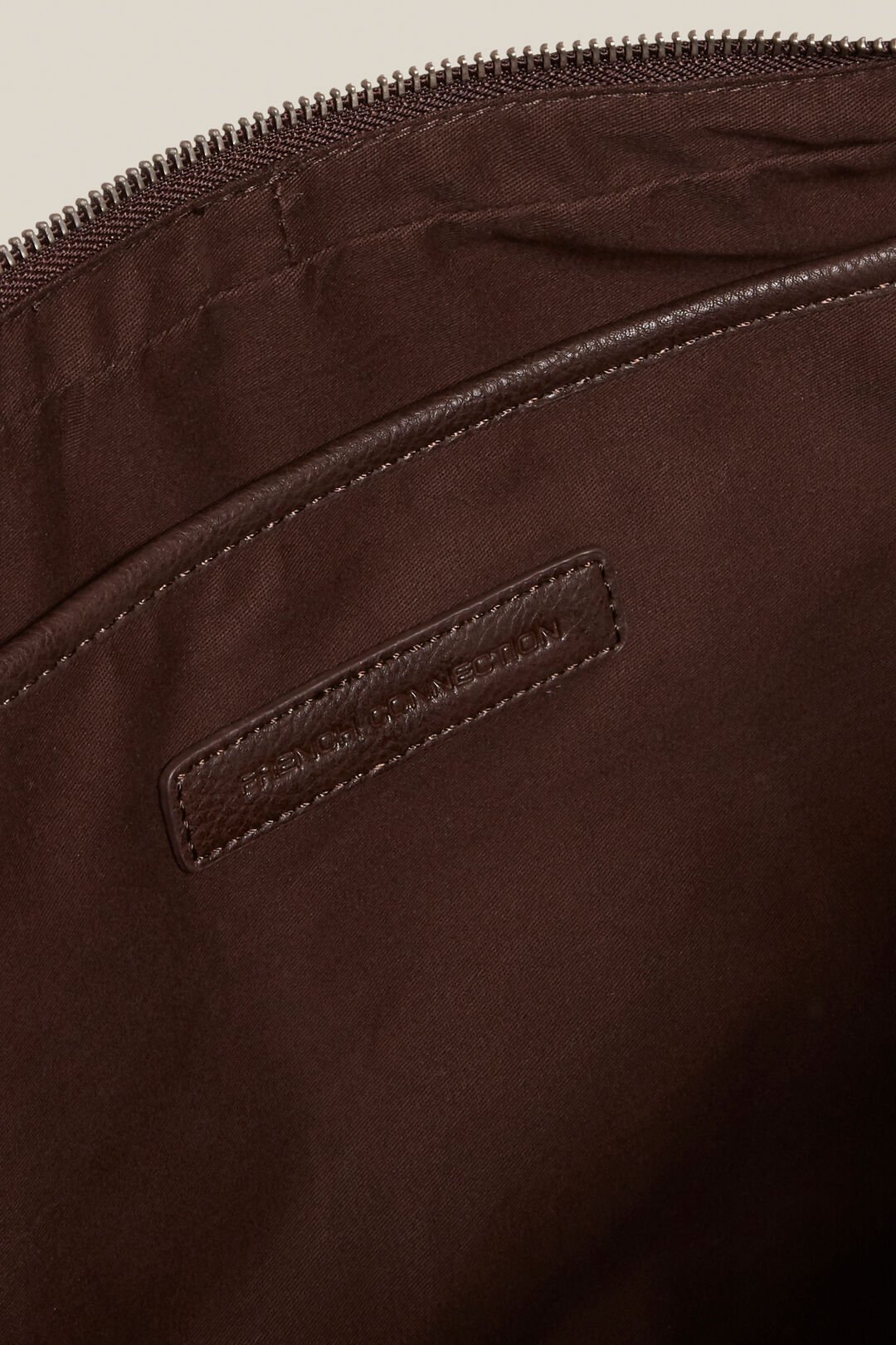 LEATHER LOOK BRIEFCASE  CHOCOLATE  hi-res
