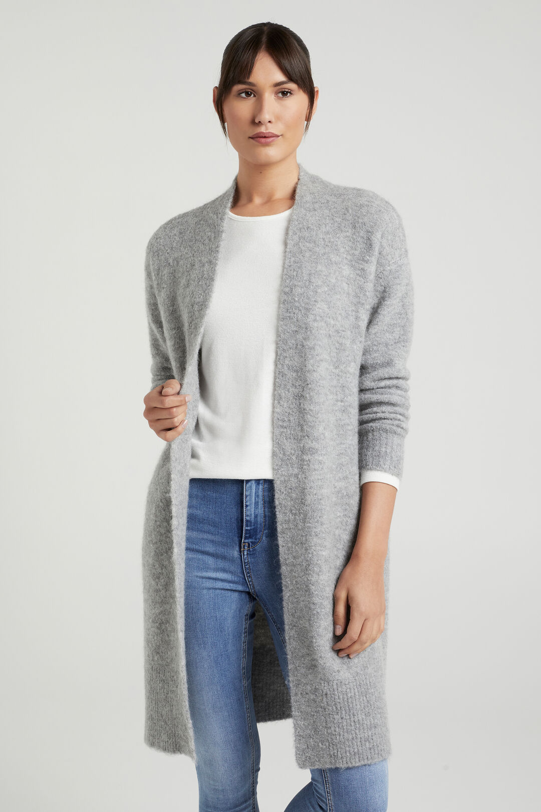 RELAXED COSY CARDIGAN  GREY MARLE  hi-res