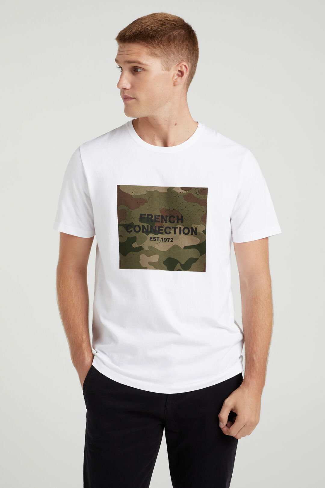 FRENCH CONNECTION T-SHIRT  WHITE  hi-res