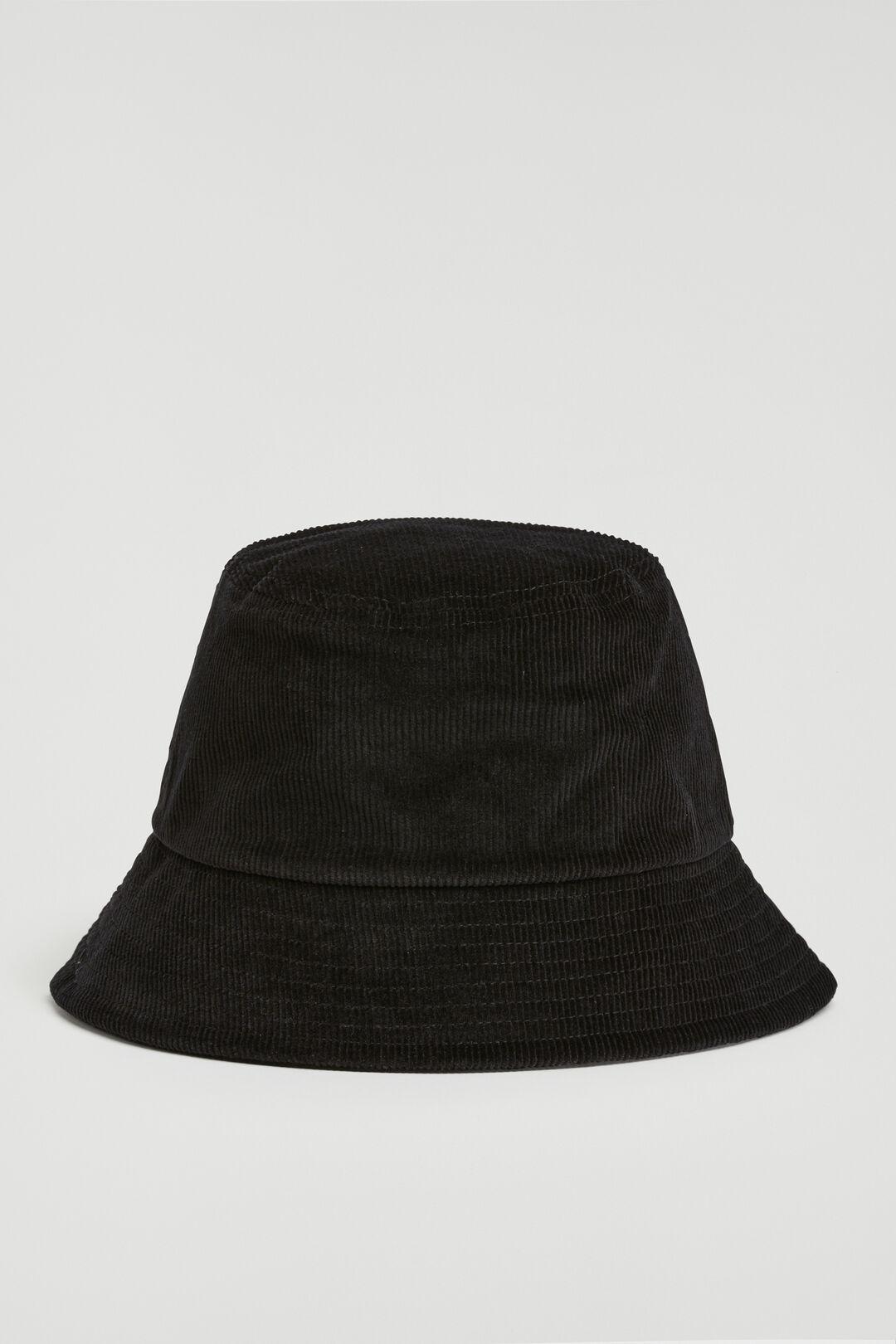 CORD BUCKET HAT  BLACK  hi-res