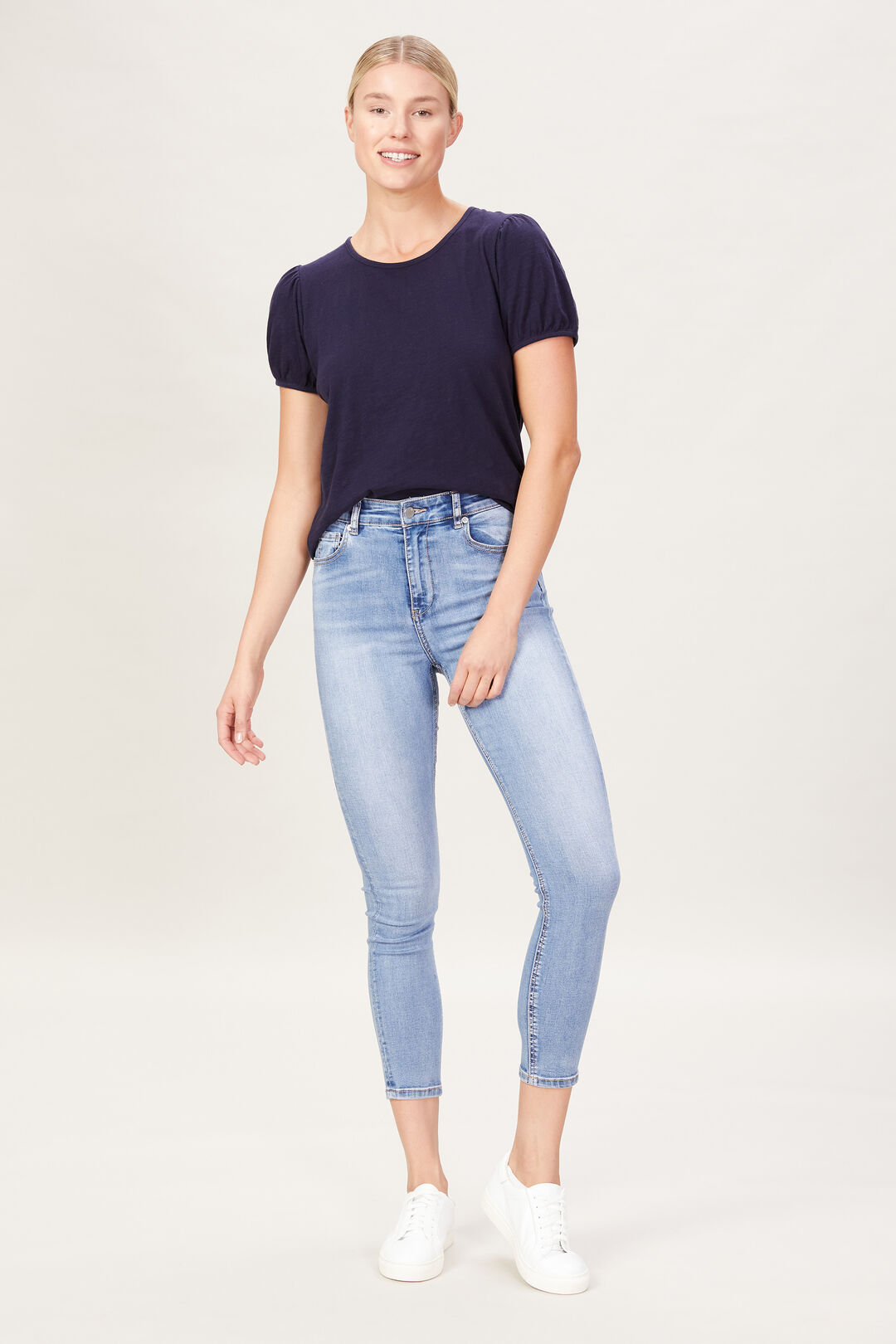 PUFF SLEEVE TEE  FRENCH NAVY  hi-res