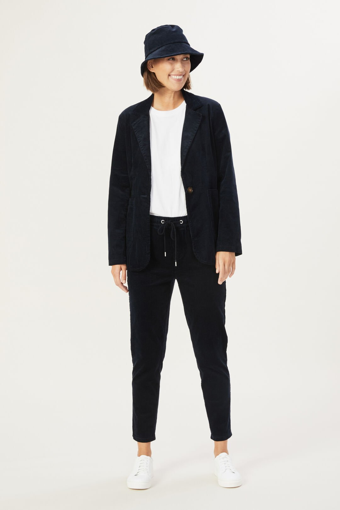 CORD STRETCH CASUAL PANT  NAVY  hi-res