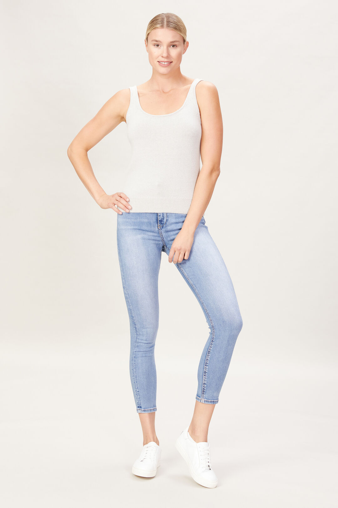 KNITTED TOP  DOVE GREY  hi-res