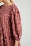 SPOT TIERED DRESS  BURNT CINNAMON SPOT  hi-res