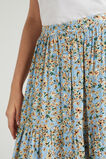 TIERED BUTTON THROUGH SKIRT  DAISY BLUES  hi-res