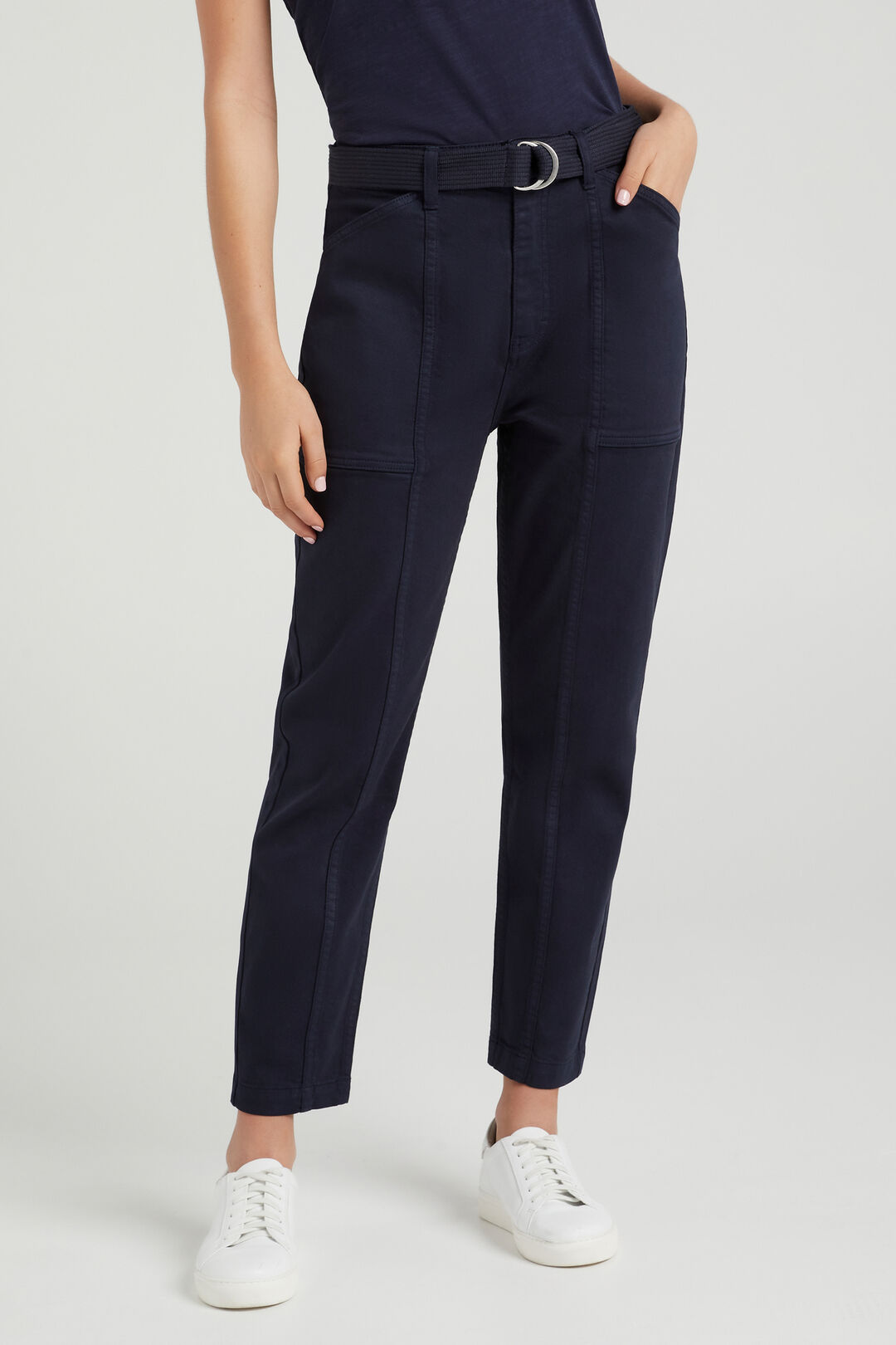UTILITY BELTED PANT  FRENCH NAVY  hi-res