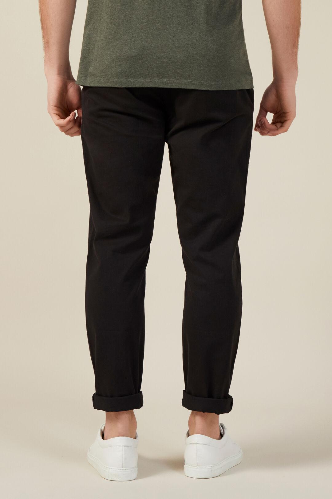 REGULAR FIT CHINO PANT  BLACK  hi-res