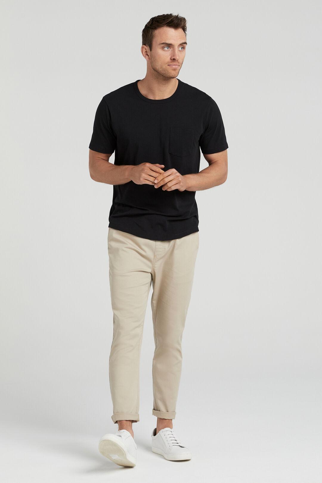 ORGANIC COTTON T-SHIRT  BLACK  hi-res