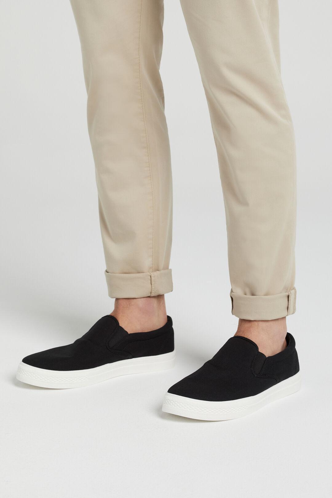 CANVAS SLIP ON SNEAKER  BLACK  hi-res